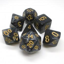 Perlati - Set di dadi (Nero / Oro)