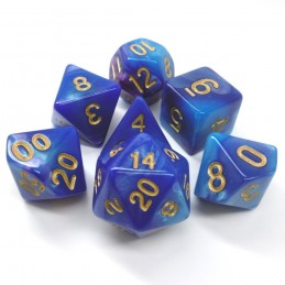 Impressive - Set di dadi (Viola-Blu)