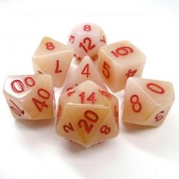 Giada - Set di dadi (Bianco)