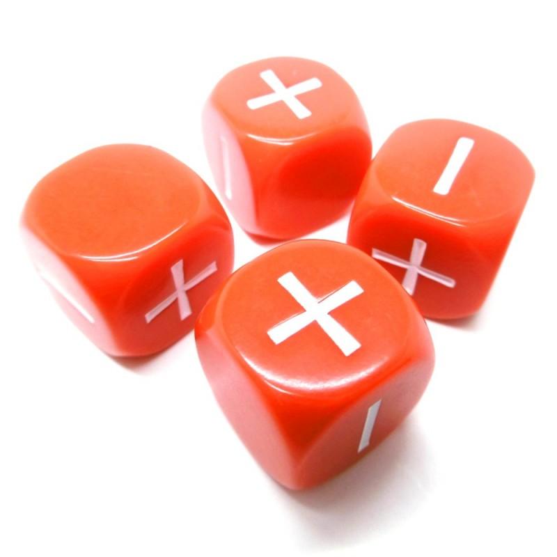 Fate: Set di dadi (Rosso)