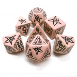 Il richiamo di Cthulhu: Set di dadi (Rosa-Nero