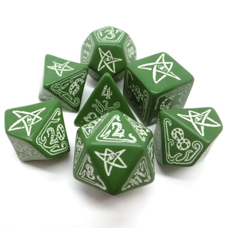 Il richiamo di Cthulhu: Set di dadi (Verde-Fosforescenti)