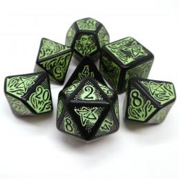 Il richiamo di Cthulhu: Set di dadi a tema 7° edizione (Nero-Verde)