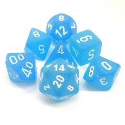 Ghiacciati - Set di dadi (Blu caraibico / Bianco)