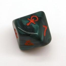 Vampiri - Set di 10 d10 con Ankh (Verde perlato / Rosso)