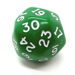 Opaco - Dado singolo d30 (Verde)