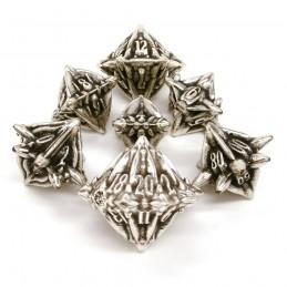 Terralith - Set di dadi Old Silver (Argento Antico)