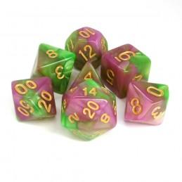 Impressive - Set di dadi (Rosa-Verde)