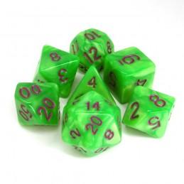 Perlati - Set di dadi (Verde / Viola)