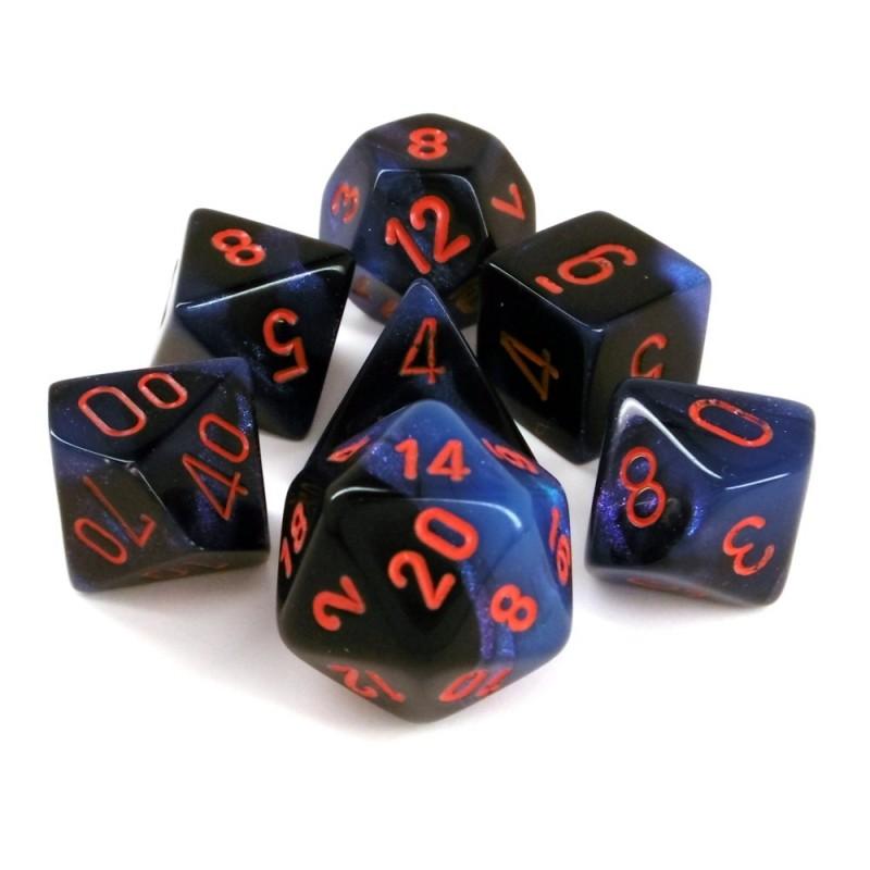 Gemini - Set di dadi (Nero-Luce stellare / Rosso)