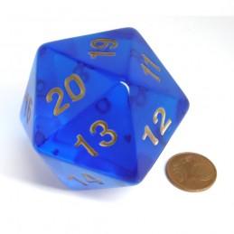 Countdown: Trasparente - Dado a 20 facce da 55 mm (Blu Zaffiro)