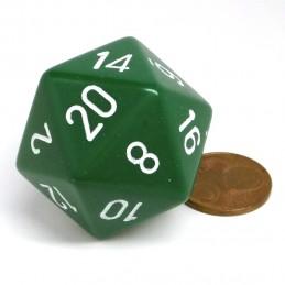 Opaco - Dado a 20 facce da 34 mm (Verde)
