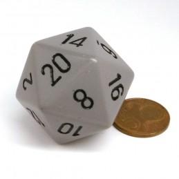 Opaco - Dado a 20 facce da 34 mm (Grigio Scuro)