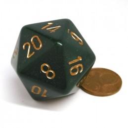 Opaco - Dado a 20 facce da 34 mm (Verde Sporco / Rame)
