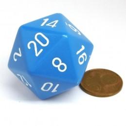 Opaco - Dado a 20 facce da 34 mm (Blu chiaro)