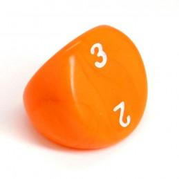 Opaco - Dado singolo d3 (Arancione)