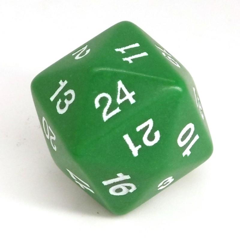 Opaco - Dado singolo d24 (Verde)