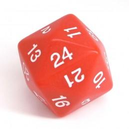 Opaco - Dado singolo d24 (Rosso)