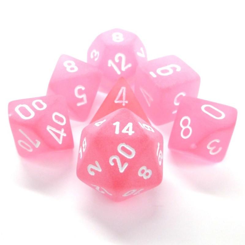 Ghiacciato - Set di dadi (Rosa / Bianco)