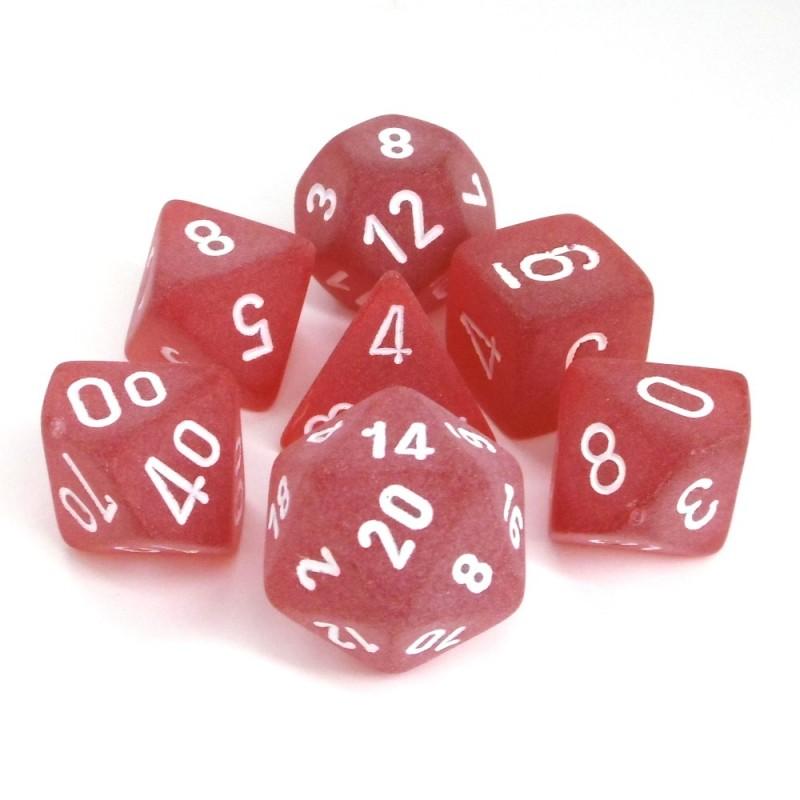 Ghiacciato - Set di dadi (Rosso / Bianco)