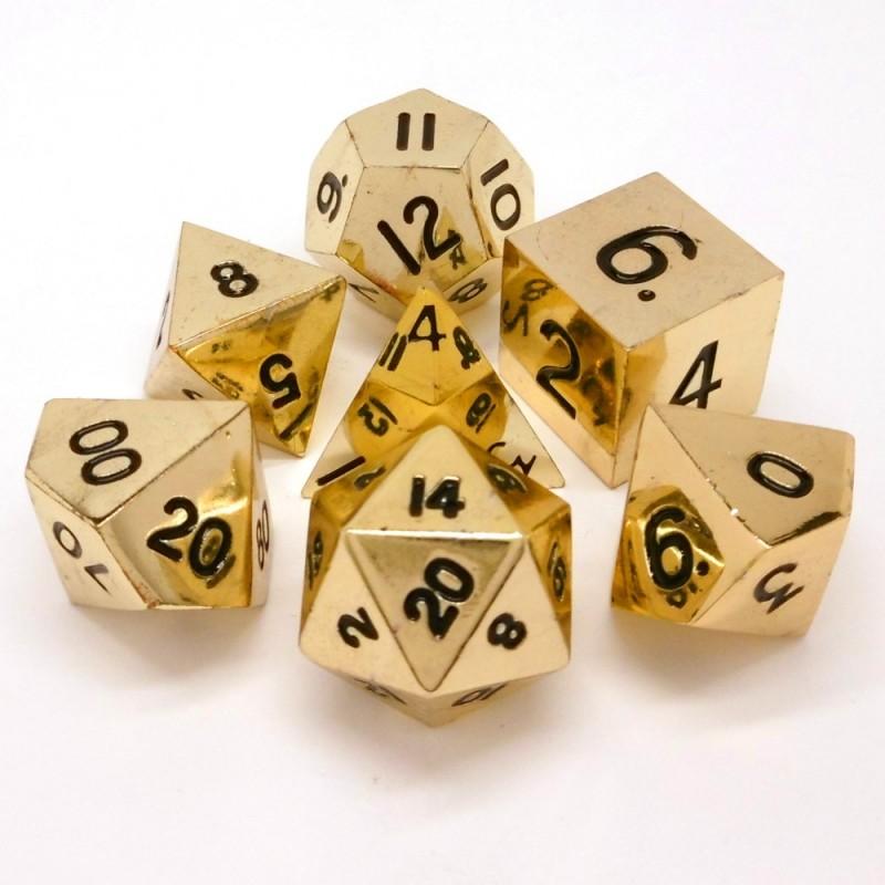 Metallo -Set di dadi d'oro